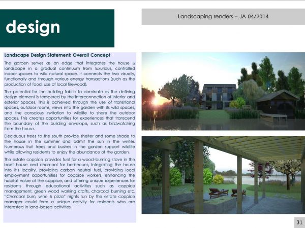 Design statement & renders